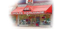 Store Front Wolfe Ace Hardware