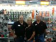 Manager Tim Ringer, Cathy Trower, Jim Thayer