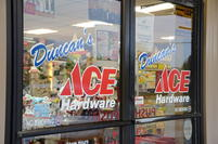 Store Front WELCOME TO DUNCAN'S ACE