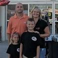 Owner Brian Kabat and family, Ashley, Derek, Addison